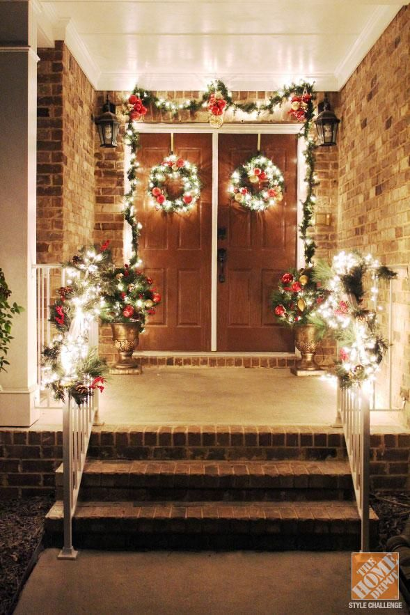 Decorating Front Porch For Christmas 72 best holiday curb appeal with lights images on pinterest