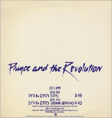 Prince - Let's Go Crazy Promo Vinyl Record Free Shipping!
