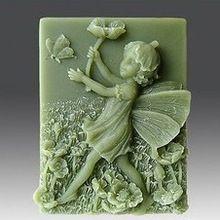 Bloem Faerie Vlinder Craft Art Siliconen Zeep mal Craft Mallen DIY Handgemaakte zeep mallen(China)