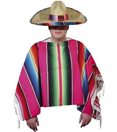 Gekleurde Mexico poncho