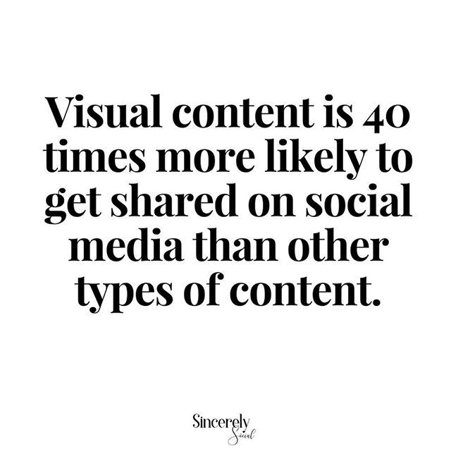 So a picture really is worth a thousand words 😏⠀ ---⠀ Text-based content is always going to be an integral part of marketing, but to really set yourself apart in the digital era, visual content must play a pivotal role in all of your efforts 📷⠀ ---⠀ If you can generate high quality visual content which truly resonates with people and promote it on a regular basis, the reputation and awareness of your brand is sure to skyrocket ☄️⠀ ---⠀ Being a visual learner, I have always loved…