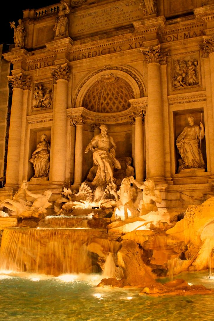 Trevi Fountain in Rome, Italy #travel