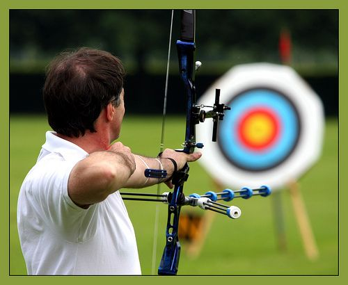 learn to shoot a bow and arrow... maybe like katniss :)