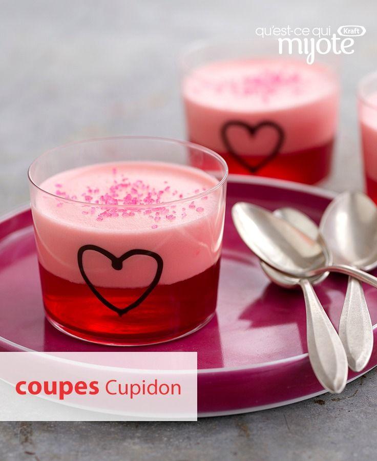À la Saint-Valentin, il suffit d'un petit dessert tout simple à la fraise pour faire rougir. Tapez ou cliquez sur la photo pour obtenir la #recette de nos Coupes Cupidon.