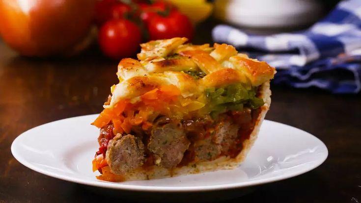 Stuffed Meatball Pie Recipe by Tasty