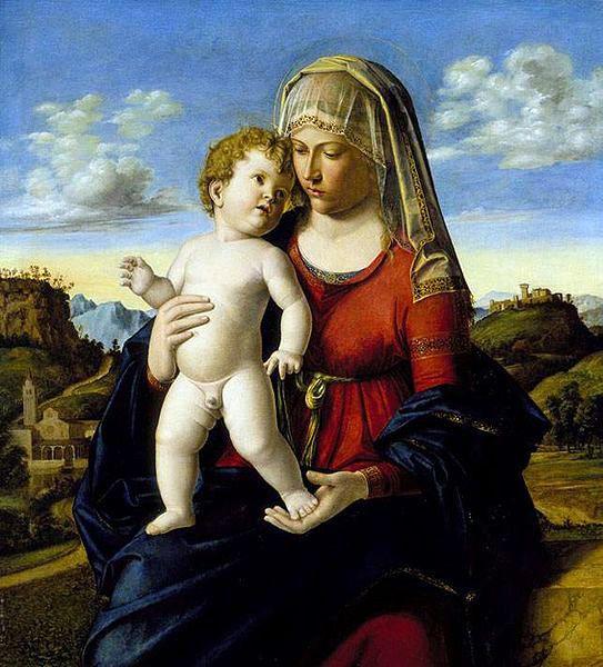 Cima da Conegliano... Madonna and Child in a Landscape  (1496-99)