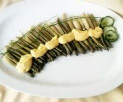 Asparagi con zabaione salato al parmigiano