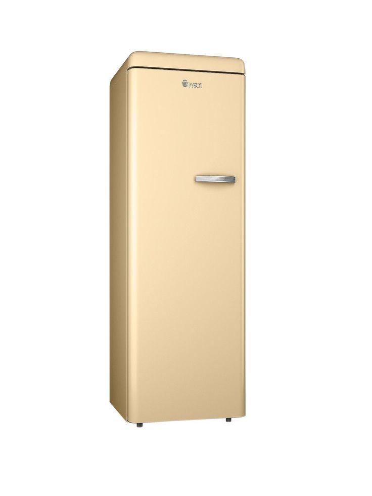 Swan SR11040 60cm Retro Tall Freezer - Cream | very.co.uk