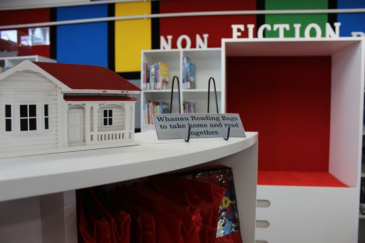 Close up of shelving and reading nook #bfg #custom #shevling
