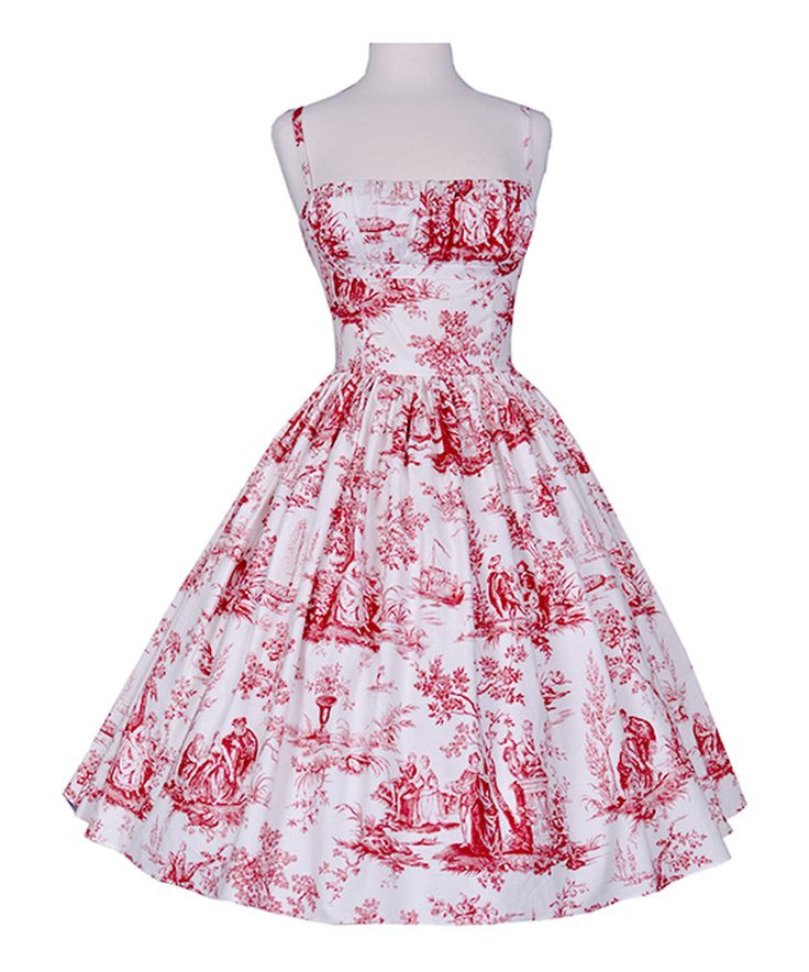 Take a look at this Bernie Dexter Red Toile Paris Dress - Plus Too today!