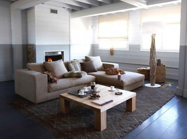 dcoration maison gris - Salon Design Sol Gris
