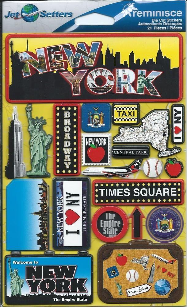 Reminisce NEW YORK CITY 3d Scrapbook Stickers #Reminisce