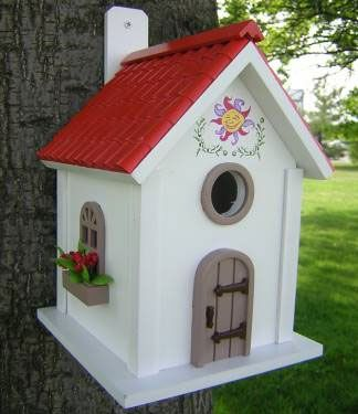 Always looking for new ideas for my Bird Houses this is really cute