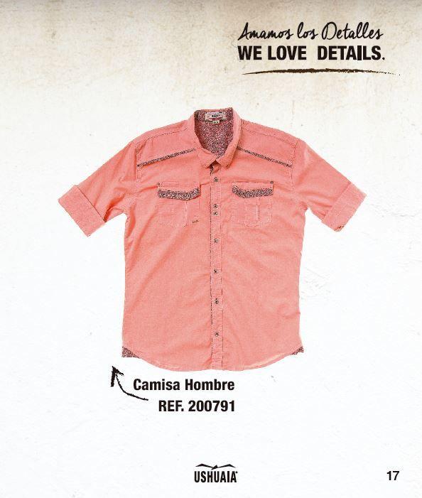 Camisa Hombre  Ref: 200791 Talla: S-M-L-XL