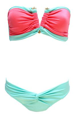Mint and coral. super cute