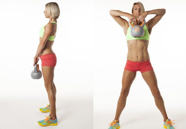 Standing pull-up with kettlebell - Kettlebell workouts - Women's Health & Fitness