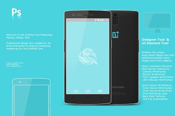 Oneplus One Android Mockup Concept Android Mockup Mockup Design Mobile Mockup