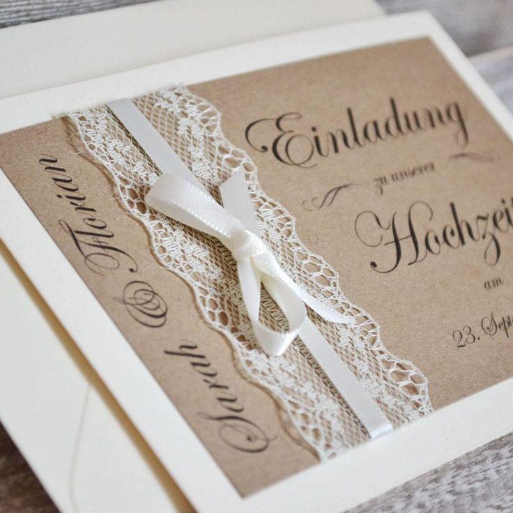 Einladungskarten Goldene Hochzeit Selbst Gestalten: Die Besten 25+ Hochzeitseinladungen Selbst Gestalten Ideen
