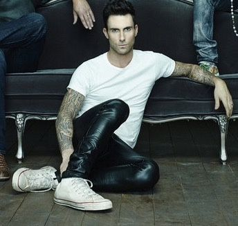 guysinleatherpants:  Adam Levine in leather pants