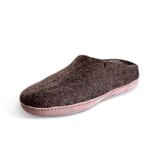 Betterfelt Unisex Felt Classic Slipper in Brown/grey | Slippers Store