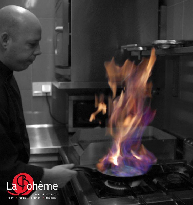 Buiten is het koud maar bij restaurant La Boheme Maastricht is het culinair en warm www.restaurantlaboheme.nl