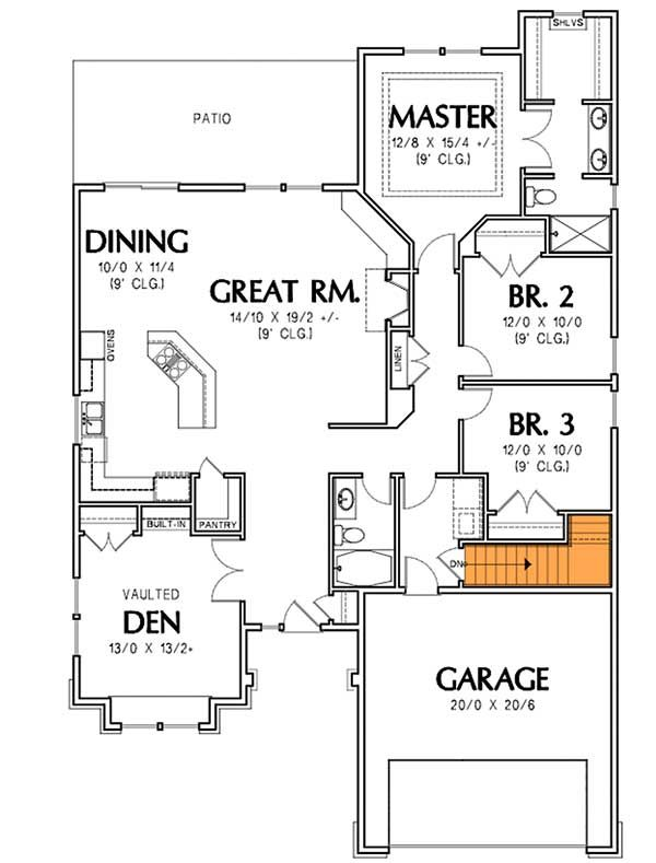 Plan 6932am Arts And Crafts Cottage Craftsman Style House Plans House Floor Plans Small House Plans