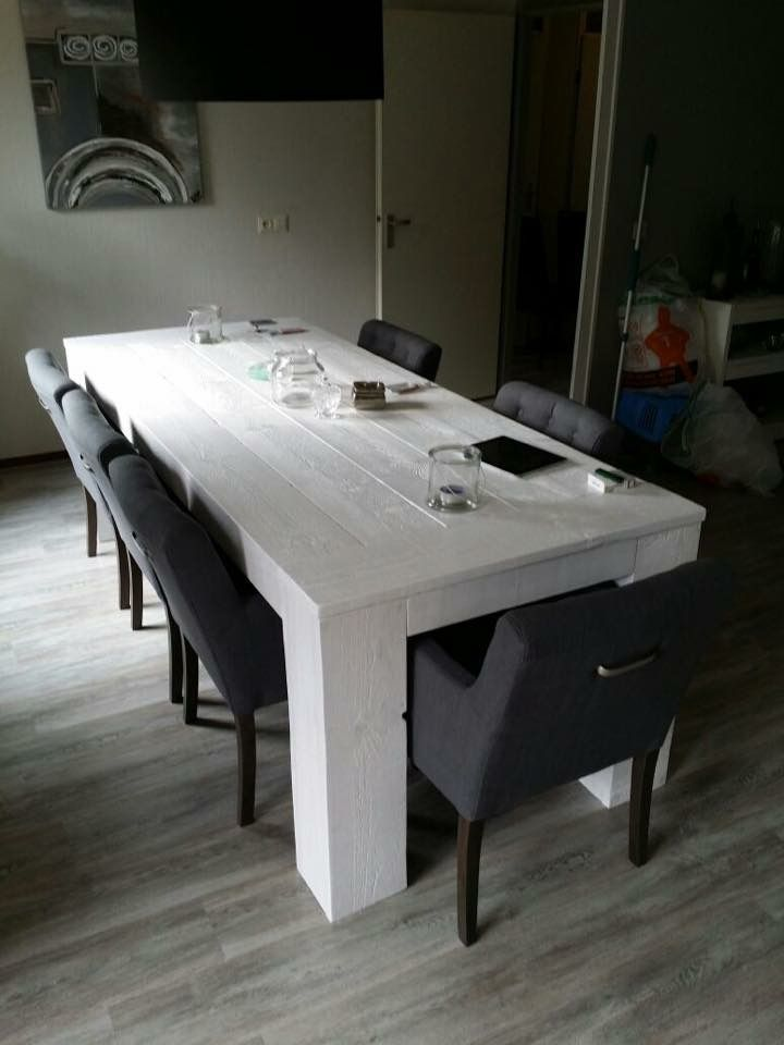 Hand made wooden dining table #woodbyberry
