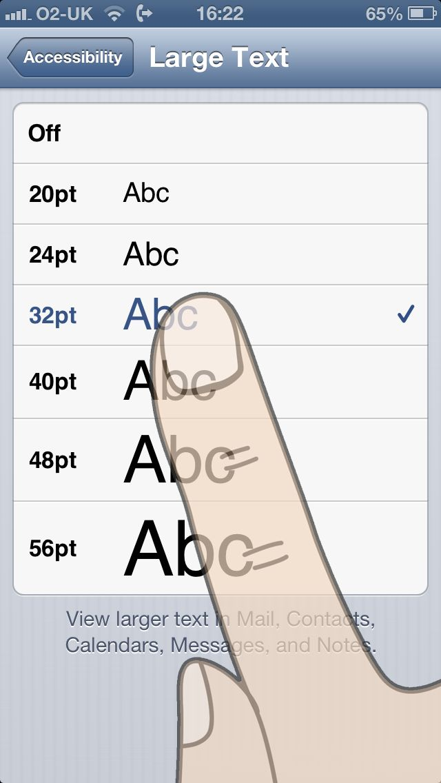 How to Change The Font Size on an iPhone