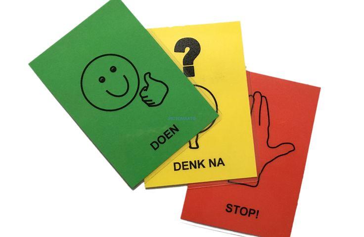 De stop-denk-doe methode is bedoeld voor kinderen die problemen ondervinden door druk, impulsief