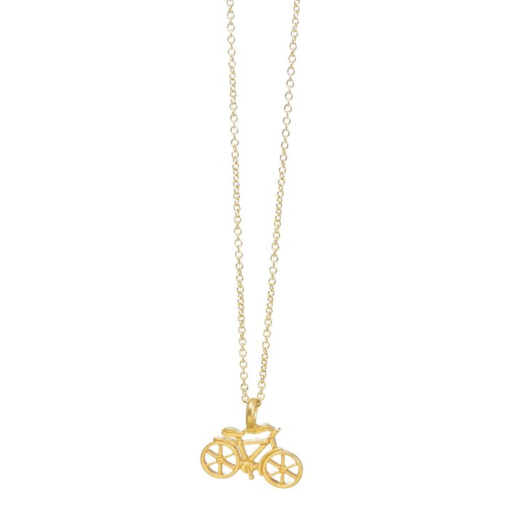 good vibes only bike necklace, gold dipped, 18 inch #dogeared #goodvibesonly #bike #dogearedsummer