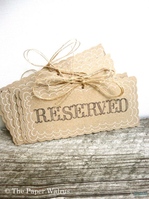 Reserved Wedding Signs - Rustic Weddings // Handmade & Reusable (PG-1)