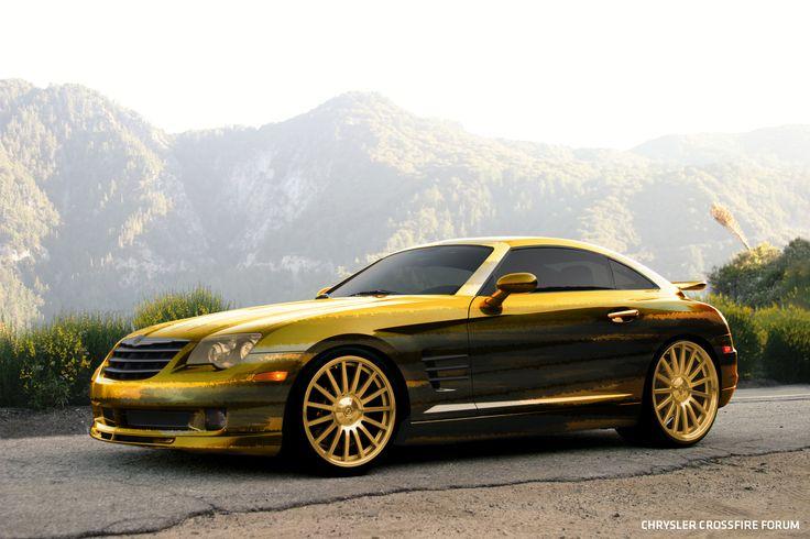 Chrysler Crossfire golden camo look. #crossfireforum #foose #cars #chrysler #crossfire #custom #wheels