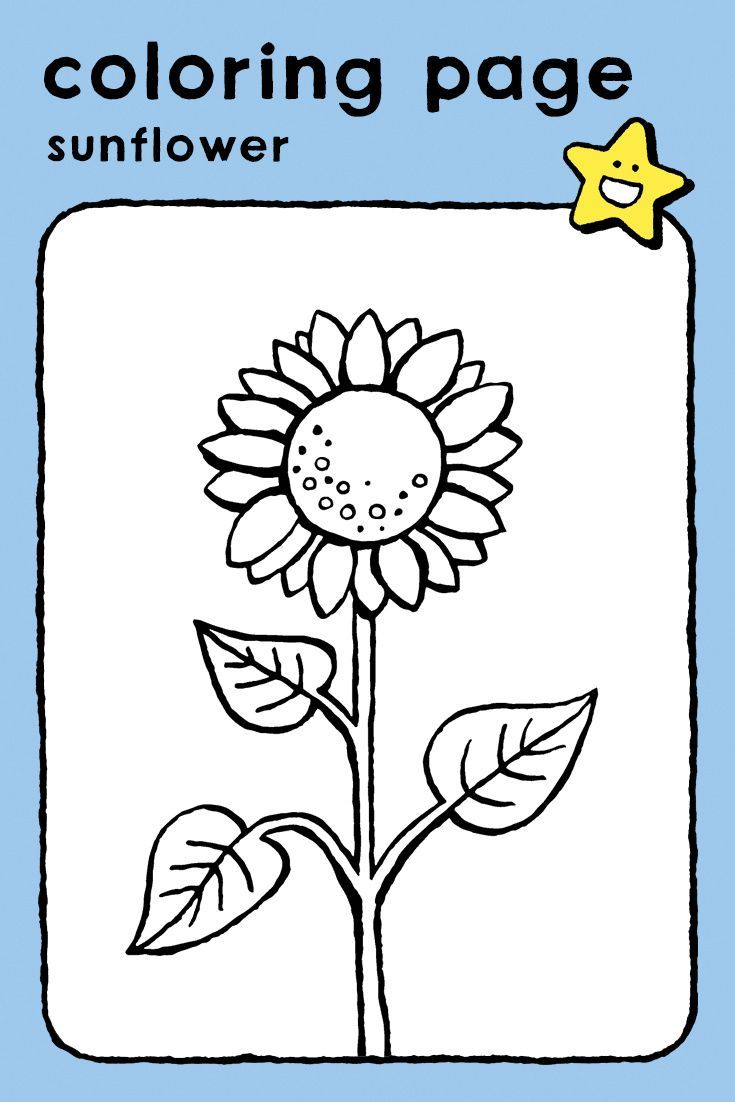 Sunflower Kiddicolour Coloring Pages Seasons Coloring Pages Easy Coloring Pages