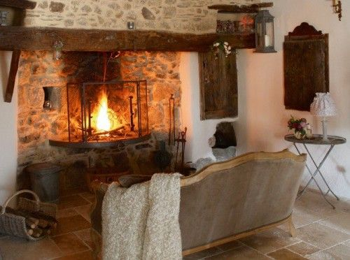 walk in fireplace stone floor stone hearth plaster walls fabulous fireplaces pinterest. Black Bedroom Furniture Sets. Home Design Ideas