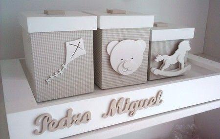 Kit Higiene 3 Potes Urso e Toys -  kit higiene brinquedos, decoração quarto de bebê, enfeite de quarto, kit higiene bege, kit de quarto de bebê, #nursery