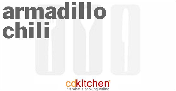 A recipe for Armadillo Chili made with armadillo meat, olive oil, onion, garlic, cumin, paprika, celery salt, seasoned salt