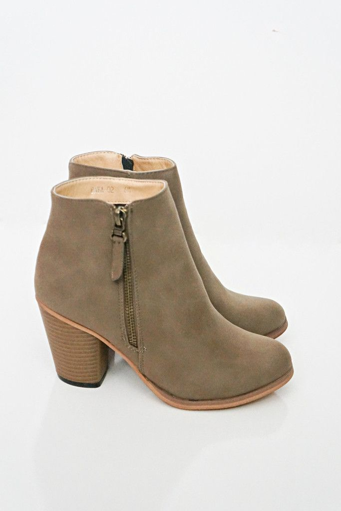 Khaki Ankle Booties – Love Street