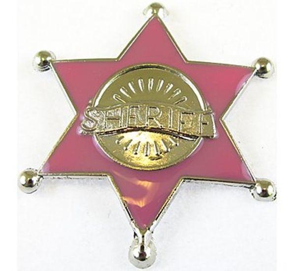 Różowa gwiazda szeryfa - zabawny gadżet, który wyróżni przyszłą Pannę Młodą podczas wieczoru panieńskiego