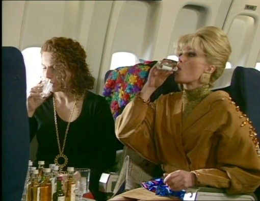Absolutely Fabulous. Pictured here they are on their way to France and one…