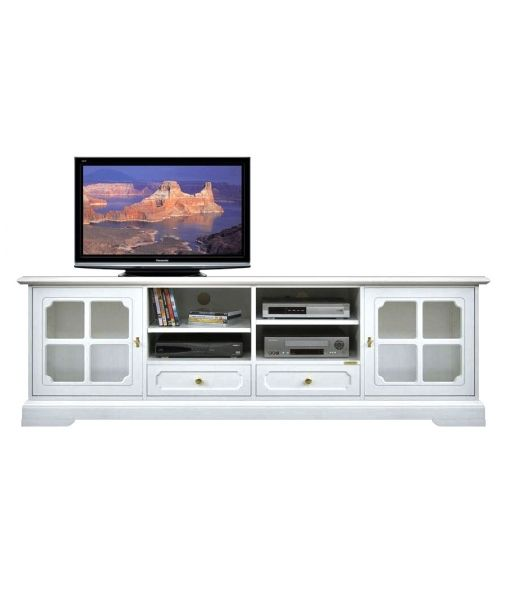 4010-SGBI by Arteferretto. lacquered Tv unit in wood. completely made in Italy.