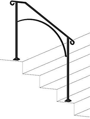 Best Iron X Handrail Arch 3 Concrete Steps Amazon Com 400 x 300
