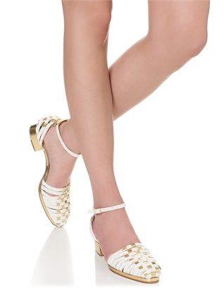Gold Suede Basket Weave Sandals Zoe Lee