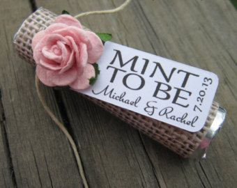 Mint wedding Favors Set of 50 mint rolls by BabyEssentialsByMel