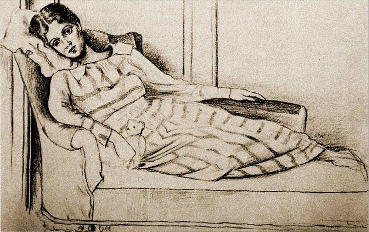 Pablo Picasso. Olga Kokhlova. 1917 year