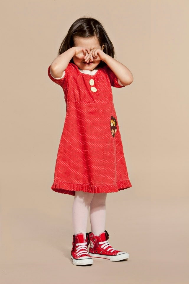 Popliini Dress- Red Polkadots