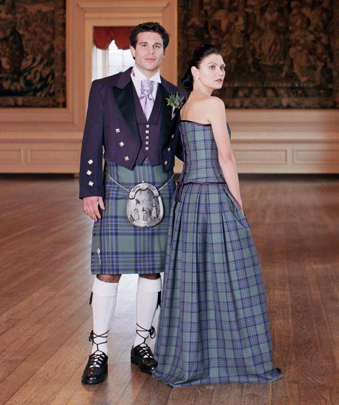 Tartan Wedding Gown, Isla   from heritageofscotland.com