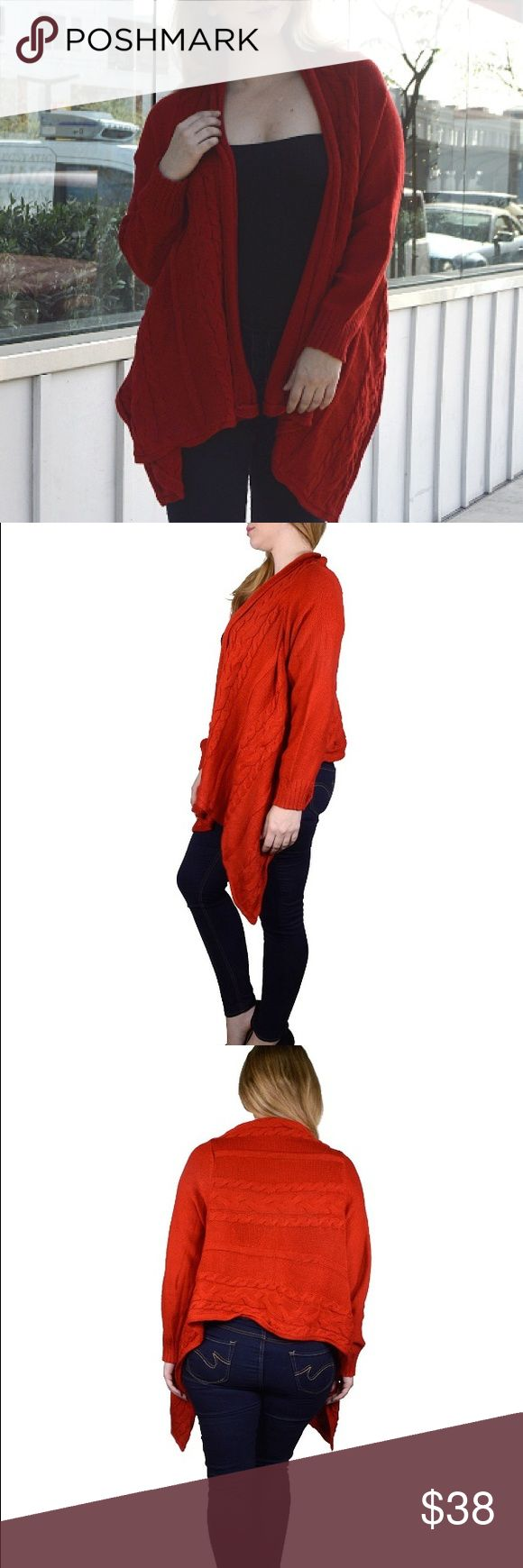 Plus Size Red Cardigan Sweater New stylish red cardigan sweater. Available in sizes 2X and 4X. Sweaters Cardigans