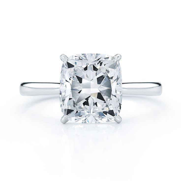Love this!!  Solitaire cushion cut.. simple and elegant :)