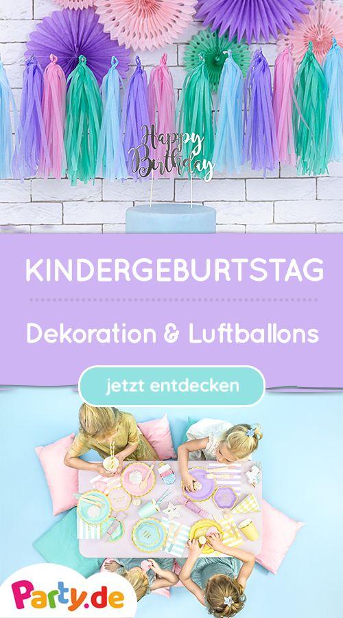 Kindergeburtstag – Dekoration, Luftballons & Co. – Party.de // Dekoration und Kostüme für deine Party!