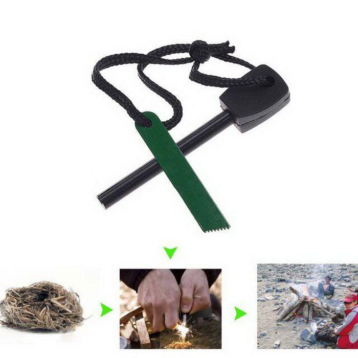 Picnic Camping Magnesium Rod Flint Fire Starter Striker Stone Lighter - Free Shipping - DealExtreme